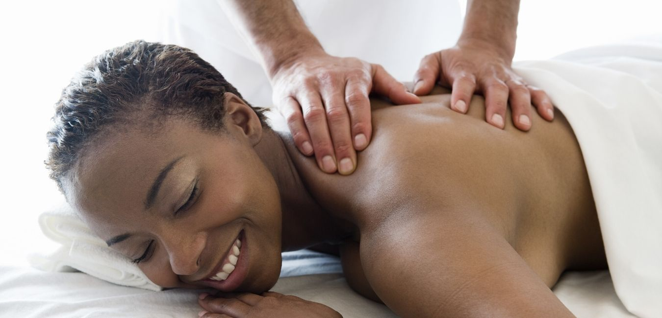 Lady receiving massage service